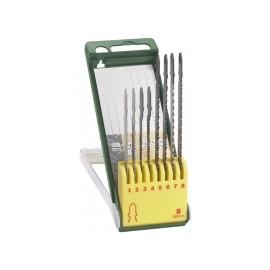 BOSCH Sada pilek 8 kusů dřevo-kov-plast (PST 650, 670L, 700PEL, 800PEL, 900PEL)