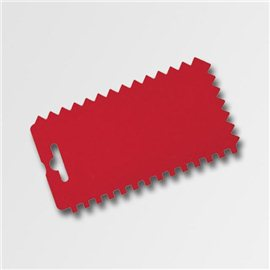 Stěrka plast zuby, 150x80 mm