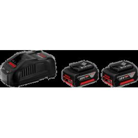 Bosch Starter Set 2x GBA 18V 6,0 Ah + GAL 1880 CV Professional - Souprava akumulátorového nářadí