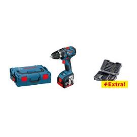 BOSCH GSR 18  V-LI Professional akce s příslušenstvím: akumulátorový vrtací šroubovák  a krabička s