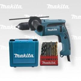 Makita Příklepová vrtačka s kufrem,rychlosklíčidlo 1,5-13mm,680W HP1641K1X