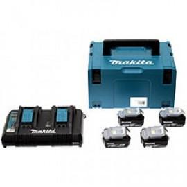 Makita sada Li-ion LXT 18V 4ksBL1830+1ksDvojnabíječkaDC18RD+1ksMakpac 197720-6