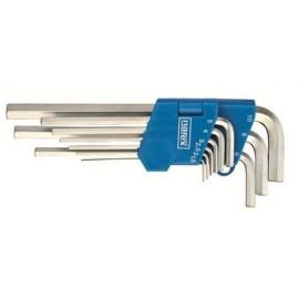 NAREX 443000860klíčů  9dílná Sada prodloužených klíčů imbus 710.609P Crv