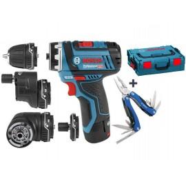 Bosch GSR 12V-15 FC Set Professional aku vrtačka bez příklepu , v kufru L-BOXX+ dárek Bosch Multitool (06019F6000)