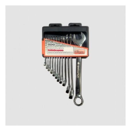 Sada očkopl. klíčů 6-22 mm 12 dílů chrom