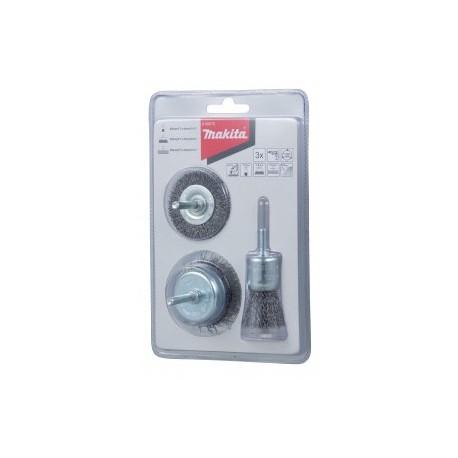 Makita sada ocelových kartáčů 3ks D-66070