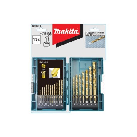 Makita sada vrtáků 19pcs.HSS-TiN B-67795