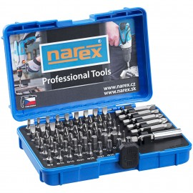 NAREX 65405062 60dílná sada šroubovacích bitů Industrial-CrV