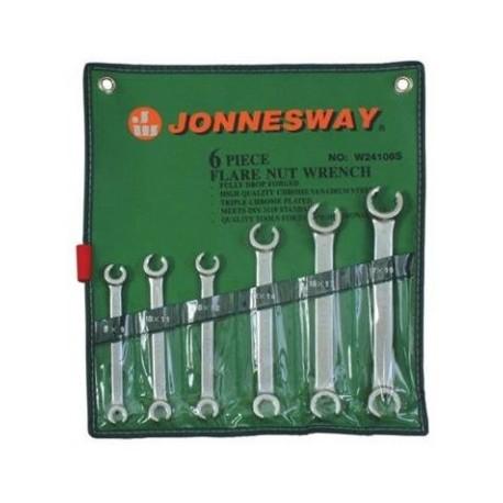 JONNESWAY W24106S Sada klíčů na převlečné matice 8-19mm 6ks