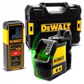 DEWALT DW0889CG-XJ Křížový laser zelený DW088CG + dálkoměr DW099E + kufr TSTAK
