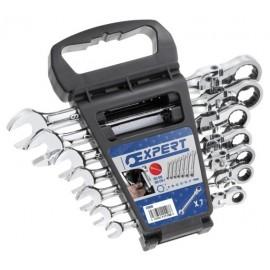 TONA Expert E111108T 7dílná sada kloubových ráčnových očkoplochých klíčů