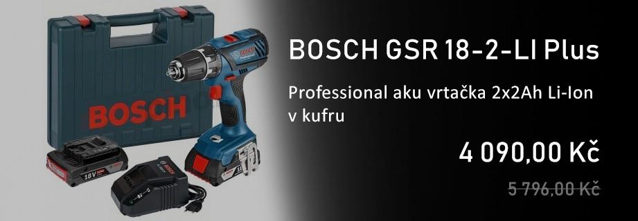 BOSCH GSR 18-2-LI Plus Professional aku vrtačka 2x2Ah Li-Ion v kufru 06019E6120